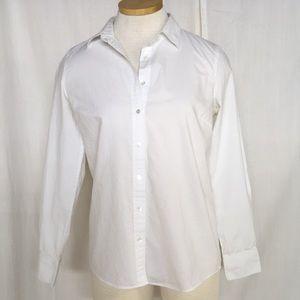 J. Crew Boy style White Button Down Shirt